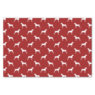 """German Shorthaired Pointer Silhouettes Pattern Red 10"""" X 15"""" Tissue Paper"""