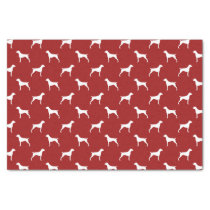 German Shorthaired Pointer Silhouettes Pattern Red Tissue Paper