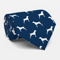 German Shorthaired Pointer Silhouettes Pattern Tie
