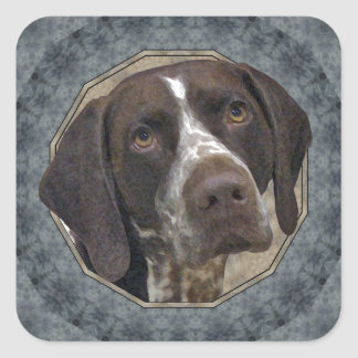 German Shorthaired Pointer Square Sticker