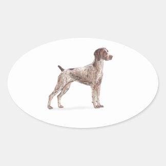 German Shorthaired Pointer Oval Sticker