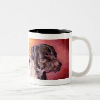 German Shorthaired Pointer Two-Tone Coffee Mug