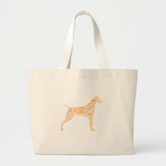 German Shorthaired Pointer Typography Large Tote Bag
