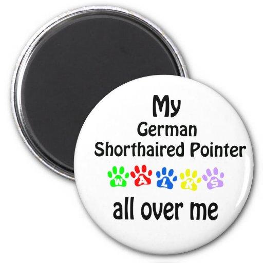 German Shorthaired Pointer Walks Design Magnets