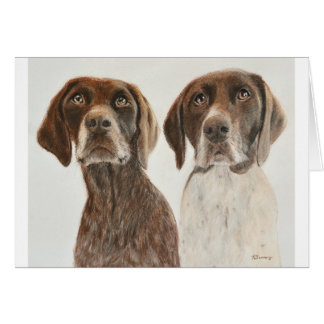 German Shorthaired Pointers Card