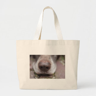 German shorthaired pointers nose jumbo tote bag