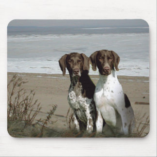 German Shorthaired Pointers On The Beach Mousepad