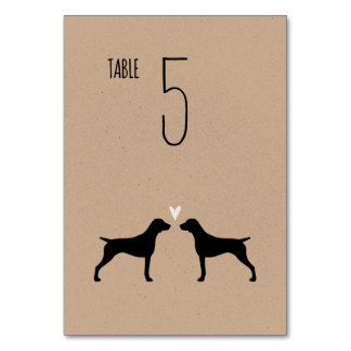 German Shorthaired Pointers Wedding Table Card