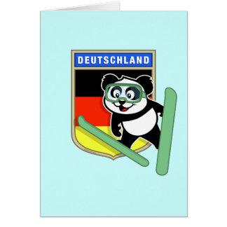 German Ski-jumping Panda Card