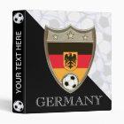 """German Soccer 1"""" 3 Ring Binder"""