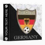 """German Soccer 1.5"""" 3 Ring Binders"""