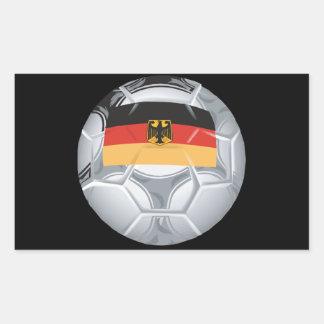 German Soccer Ball Rectangular Sticker
