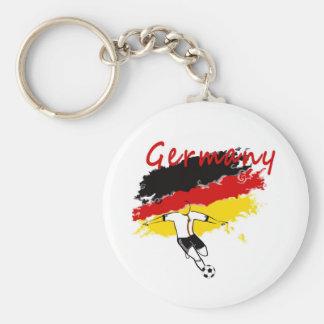 German Soccer Fans! Basic Round Button Keychain