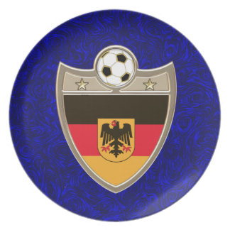German Soccer Melamine Plate