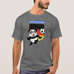 Men's Basic Dark T-Shirt with German Football Pand design