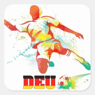 German Soccer Square Sticker