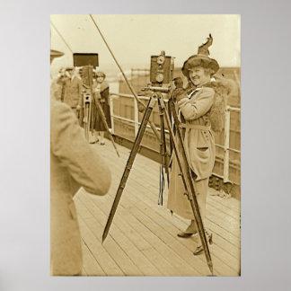 German Soprano Dux Taking a Photo Print