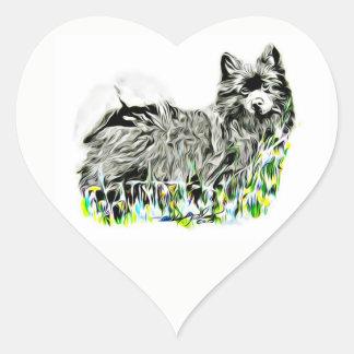 German Spitz Heart Sticker