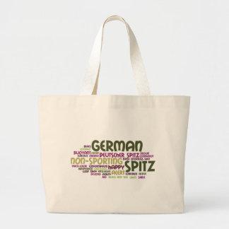 German Spitz Large Tote Bag