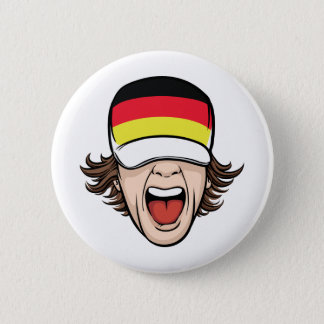 German Sports Fan Button