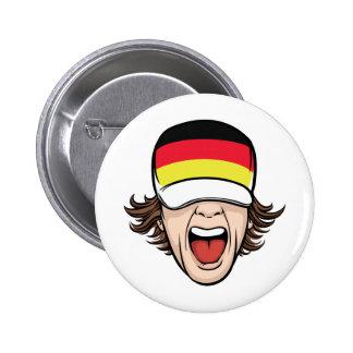 German Sports Fan 2 Inch Round Button
