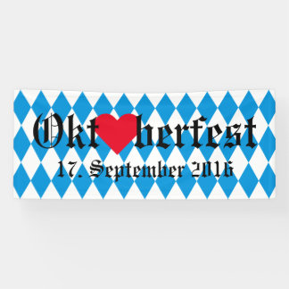 GERMAN STATE OF BAVARIA Flag Colors pattern Banner