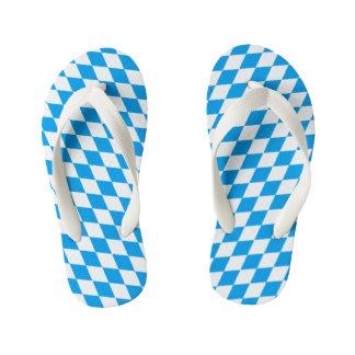 GERMAN STATE OF BAVARIA Flag Colors pattern Kid's Flip Flops
