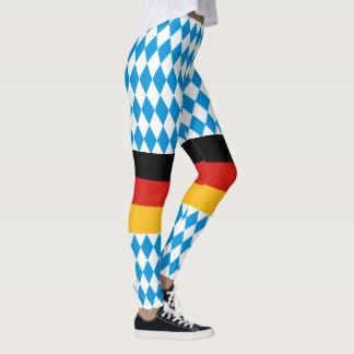 GERMAN STATE OF BAVARIA Flag Colors pattern Leggings