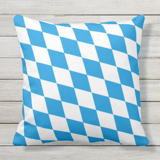 GERMAN STATE OF BAVARIA Flag Colors pattern Outdoor Pillow