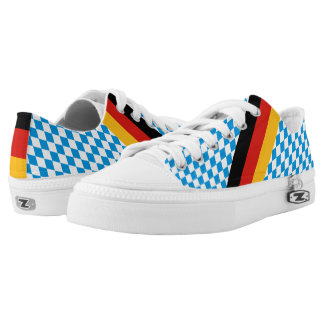 GERMAN STATE OF BAVARIA Flag Colors pattern Printed Shoes