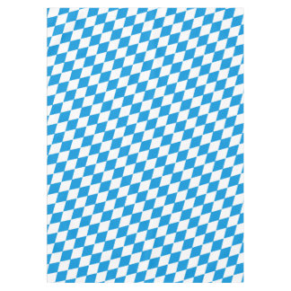 GERMAN STATE OF BAVARIA Flag Colors pattern Tablecloth