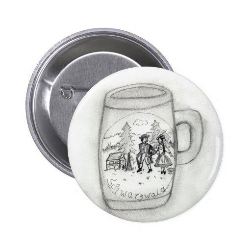 German Stein Pinback Buttons