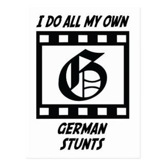 German Stunts Postcard