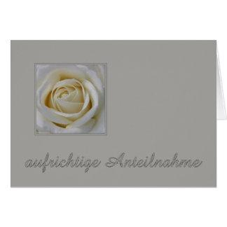 German Sympathy card, Herzliches beileid Stationery Note Card