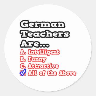 German Teacher Quiz...Joke Sticker
