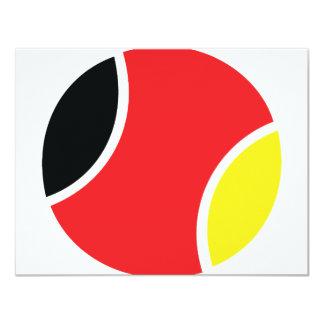 german tennis ball icon card