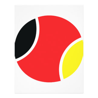 german tennis ball icon full color flyer