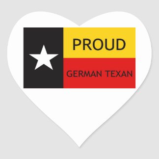 German Texan - German-American Heart Sticker