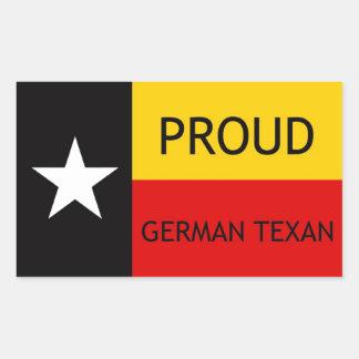 German Texan - German-American Rectangular Sticker