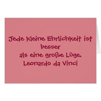 German Text - da Vinci Greeting Card