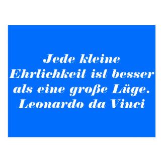 German Text - da Vinci Postcard