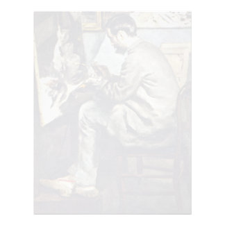 German:, The Bazille Painting In The Studio Customized Letterhead
