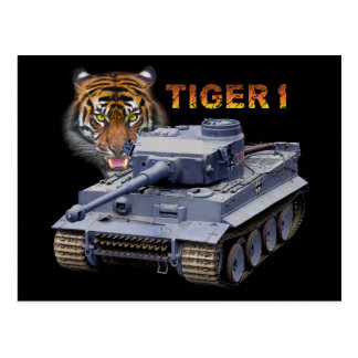 German Tiger 1 Tank Postcard