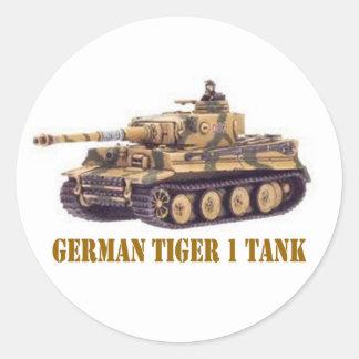 GERMAN TIGER 1 TANK CLASSIC ROUND STICKER