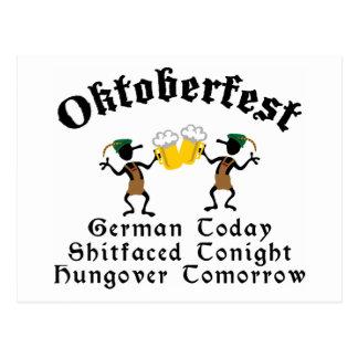 German Today Shirtfaced Tonight Postcard