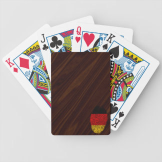 German touch fingerprint flag bicycle playing cards