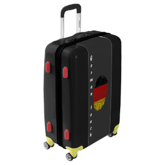 German touch fingerprint flag luggage