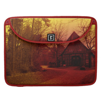 german town house in forest red tint mystic view sleeve for MacBook pro