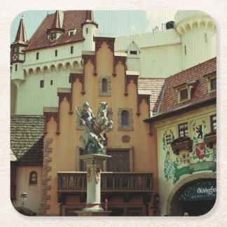 German Town Square Paper Coaster