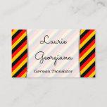 [ Thumbnail: German Translator Business Card ]